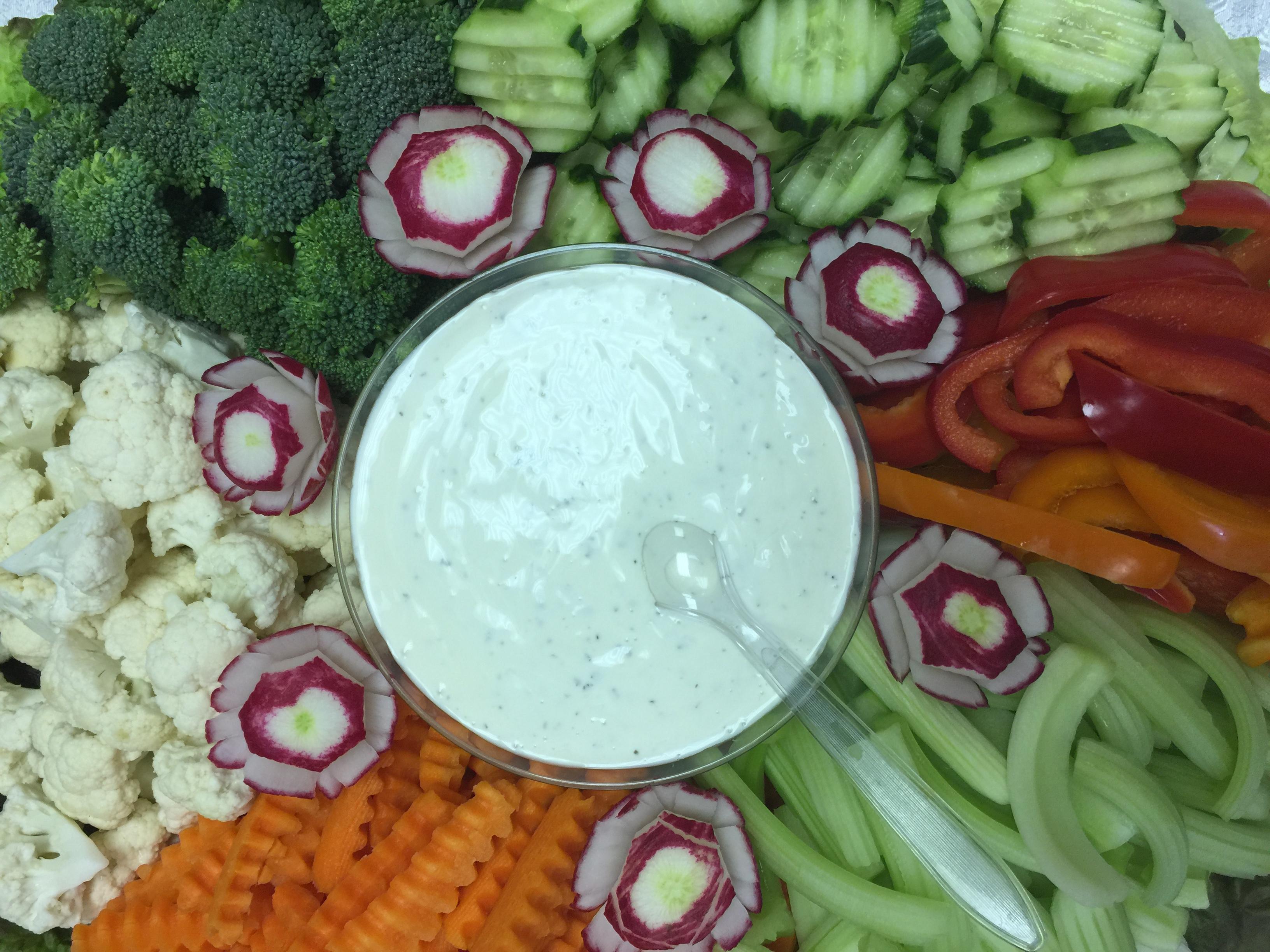 catering veggies
