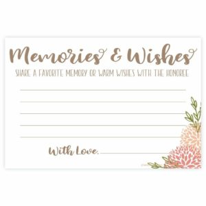 Coral Floral Share a Memory Cards