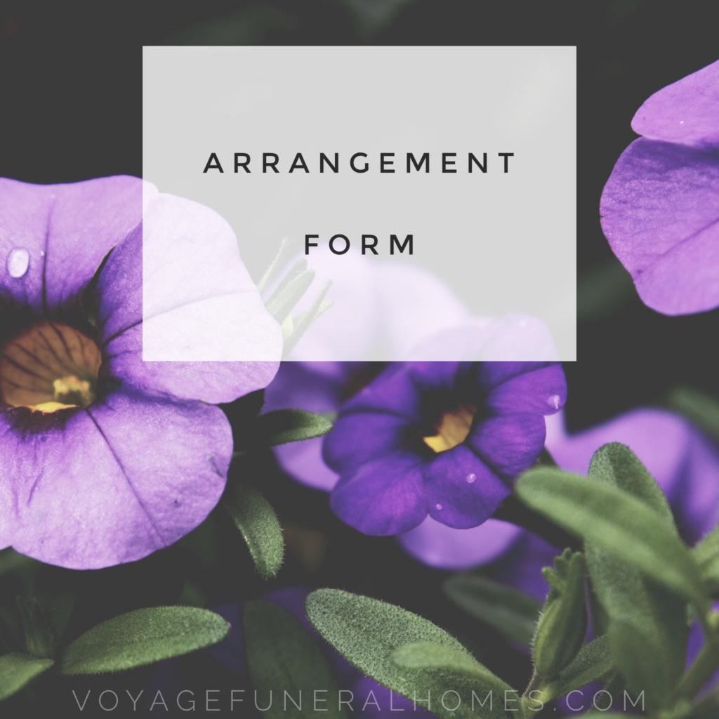 Arrangement Form Button