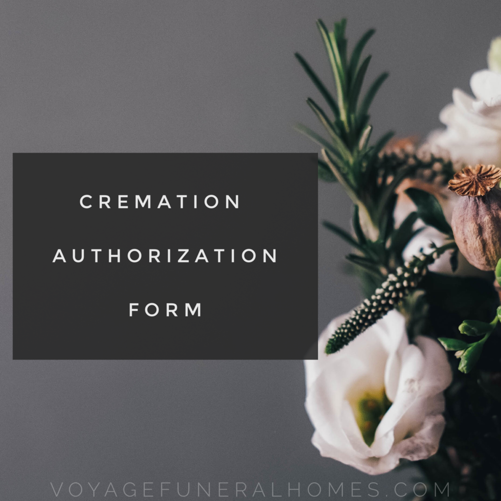 Cremation Authorization Form Button