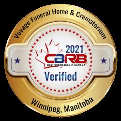 2021 CBRB Voyage Funeral Home And Crematorium Badge
