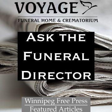 Ask the Funeral Director - Winnipeg Free Press Articles Button